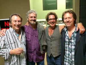 Backstage with Jim Messina and Rusty Young 'sittin' in'